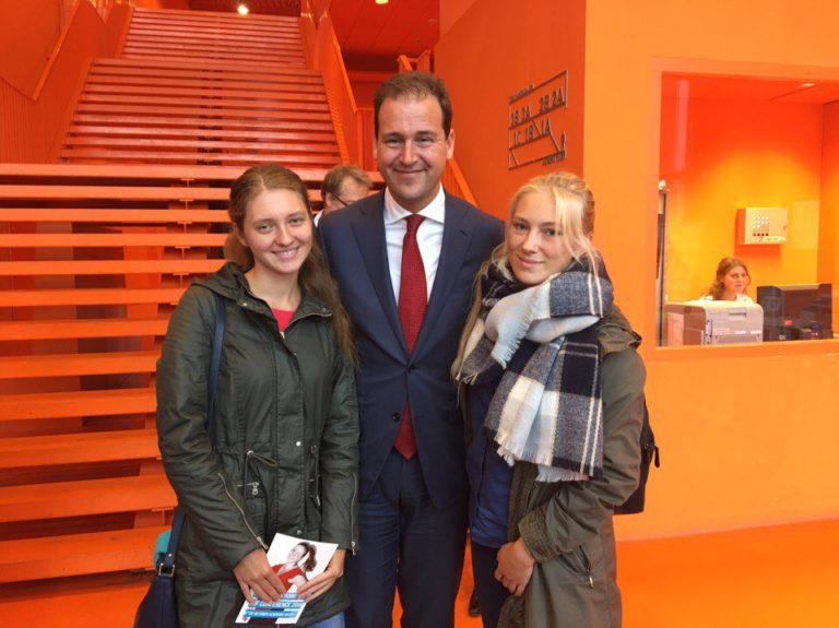 Шкель и Букреева с вице-премьер министром Нидерландов
